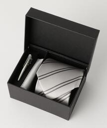 フォーマル 3P ボックス ( ネクタイ / ネクタイピン / チーフ 3点セット )