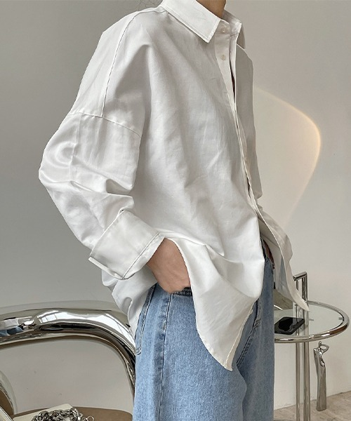 【chuclla】【2021/SS】Cotton linen over size shirt chw1494