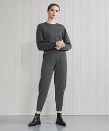 <H>WOOL CASHMERE COCOON PANTS/パンツ