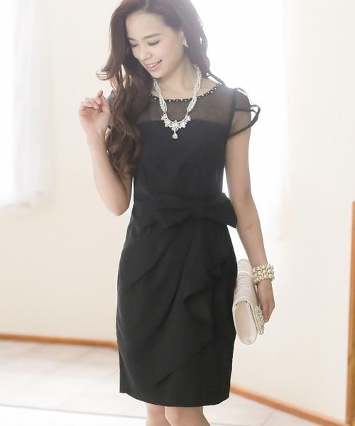 スペシャルオファ オーガンジー&リボン カクテルドレス・結婚式・お呼ばれワンピース・パーティードレス(ドレス)|PourVous(プールヴー)のファッション通販, オガツチョウ:7c52ce6b --- gnadenfels.de