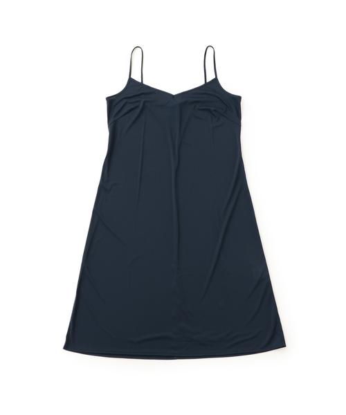 スモックシャーリング ロングドレス