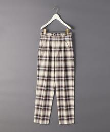<6(ROKU)>CHECK TUCK PANTS/パンツ.