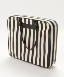 ふりふ(フリフ)のストライプ和装着物バッグ(スーツケース/キャリーバッグ)