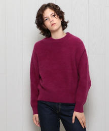 <H>HAMILTON WOOL MIX CREW NECK KNIT/ニット
