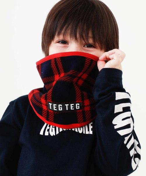 TEG TEG(テグテグ)の「【TEG TEG】TEG KIDS CHECKED NECKWARMER 23222322(ネックウォーマー)」 レッド