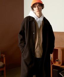 オーバーサイズ ルーズスリーブ ロングバルマカンコート/ルーズバルカラーコート(EMMA CLOTHES)ブラウン