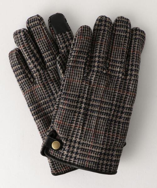 SC GLR グレンチェック グローブ ボタンB / 手袋