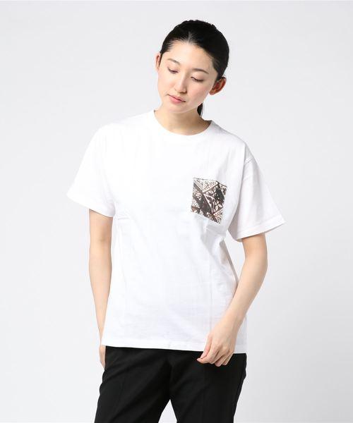【b】布帛ポケットTシャツ