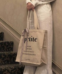 one after another NICE CLAUP(ワンアフター アナザー ナイスクラップ)の【petite】 tote bag(トートバッグ)