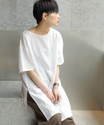 koe(コエ)のカノコボートネックチュニック 〇(Tシャツ/カットソー)