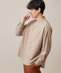 Discoat(ディスコート)のストレッチバンドカラービッグシャツ(シャツ/ブラウス)