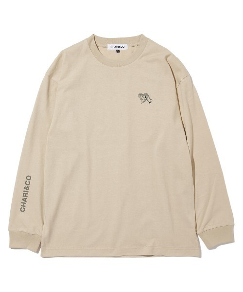 CHARI&CO(チャリアンドコー)の「CHARI&CO U LOCK HEART L/S TEE Tシャツ ロンT(Tシャツ/カットソー)」|ベージュ