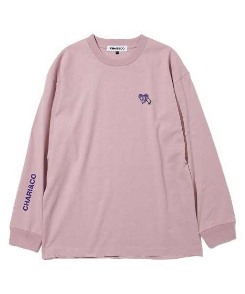 CHARI&CO(チャリアンドコー)の「CHARI&CO U LOCK HEART L/S TEE Tシャツ ロンT(Tシャツ/カットソー)」|ローズ