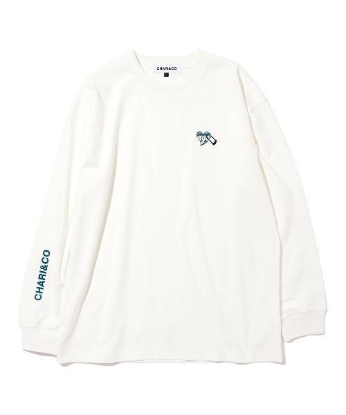 CHARI&CO(チャリアンドコー)の「CHARI&CO U LOCK HEART L/S TEE Tシャツ ロンT(Tシャツ/カットソー)」|ホワイト