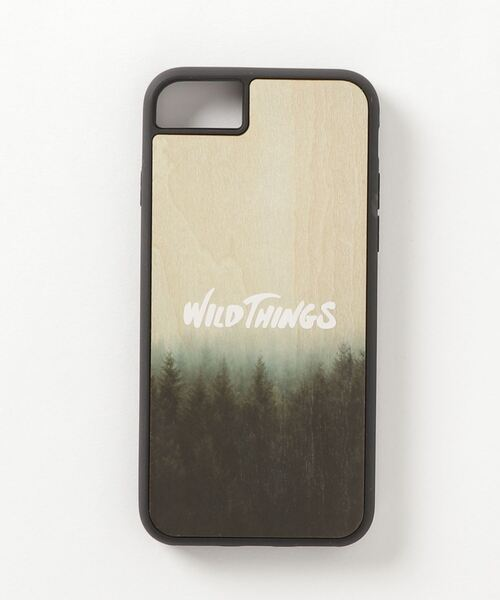 iPhone 8/7/6s/6/SE(第2世代)/11/XR/11Pro/12/12Pro/12mini ケース WILD THINGS(ワイルドシングス) × kibaco Wood Case スマホケース