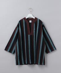 <6(ROKU)>COTTON PILE STRIPE PULLOVER/カットソー