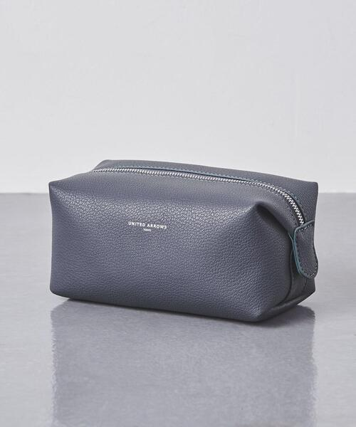 <UNITED ARROWS> マイクロ ファイバー スクエア ポーチ S