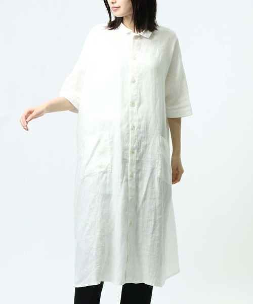 ∴【 HEAVENLY / ヘヴンリー 】 リネンワイドシャツワンピース LINEN S/S WIDE SHIRT ONEPIECE 2136012