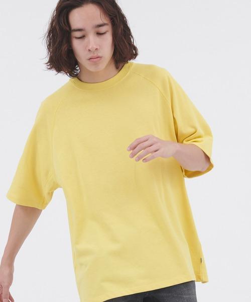 DISCUS ATHLETIC/ディスカス アスレチック ラグランオーバーサイズ半袖カットソー