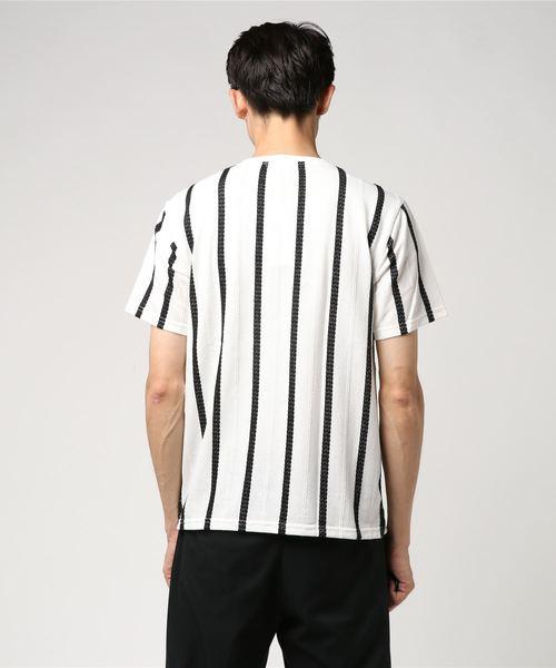 ジャガードストライプTシャツ