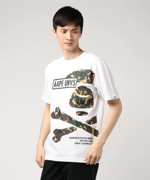 AAPE BY A BATHING APE(エーエイプバイアベイシングエイプ)の「AAPE SS TEE(Tシャツ/カットソー)」 ホワイト