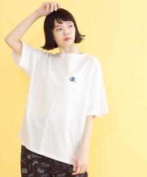merlot(メルロー)のスポーツ刺繍コットンTシャツ3749(Tシャツ/カットソー)