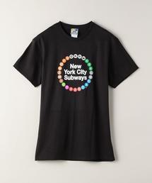 <NYCSL(ニューヨーク シティー サブウェイライン)>マルチ プリントTシャツ