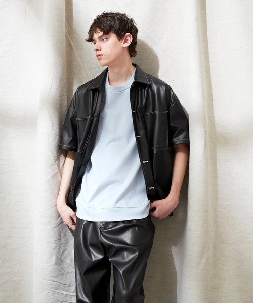 【セットアップ】TRストレッチ ビッグステッチ オーバーボックス ドレープ CPO シャツ&テーパードアンクルワイドパンツ EMMA CLOTHES 2021 SUMMER