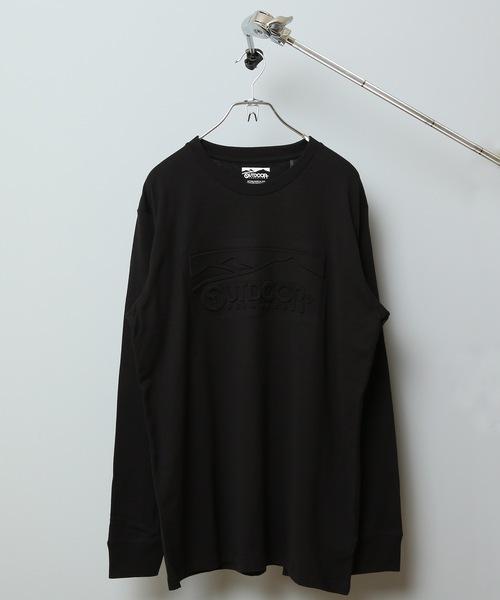 エンボスロゴロンT ロングTシャツ 凹凸感のある加工  やや身幅をゆったり