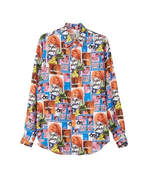 HG NIGHT GAMES柄 レギュラーカラーシャツ