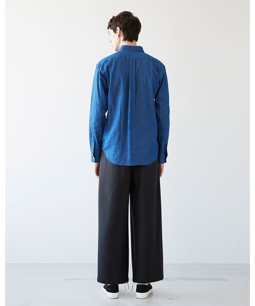 【MEN'S】ボタンダウンシャツ ウィズ パッチ