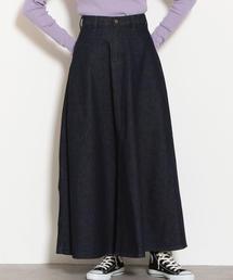 [別注]LEE(リー)×GLR SC マキシ フレア ロング デニム スカート