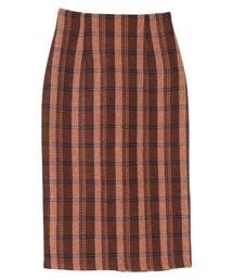 ur's(ユアーズ)のタータンチェックロングタイトスカート(スカート)