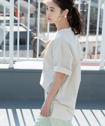 ViS(ビス)の【WEB限定】綿麻オーバーサイズプルオーバー(Tシャツ/カットソー)