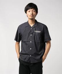 ELECTRONIC SERVICE pt 半袖オープンカラーシャツブラック