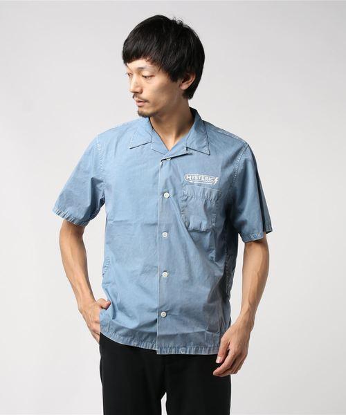 ELECTRONIC SERVICE pt 半袖オープンカラーシャツ