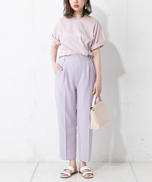 natural couture(ナチュラルクチュール)の「プチプラ美シルエットテーパード(パンツ)」 ラベンダー