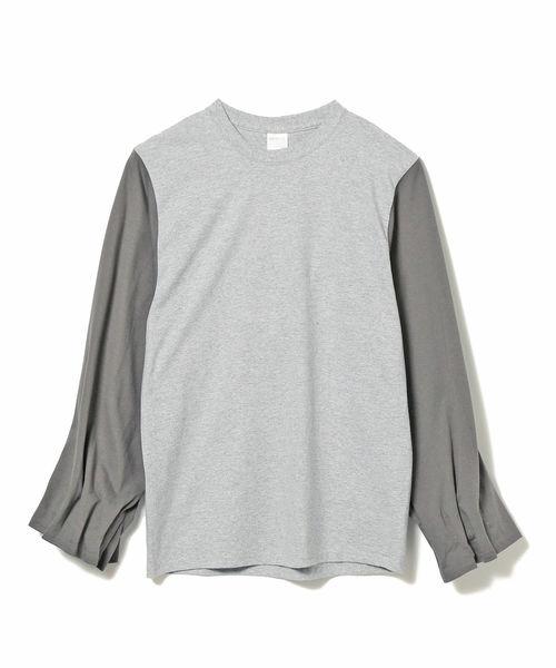 International Gallery BEAMS(インターナショナルギャラリービームス)の「PRE_ / MKS ロングスリーブTシャツ(Tシャツ/カットソー)」|グレー系その他