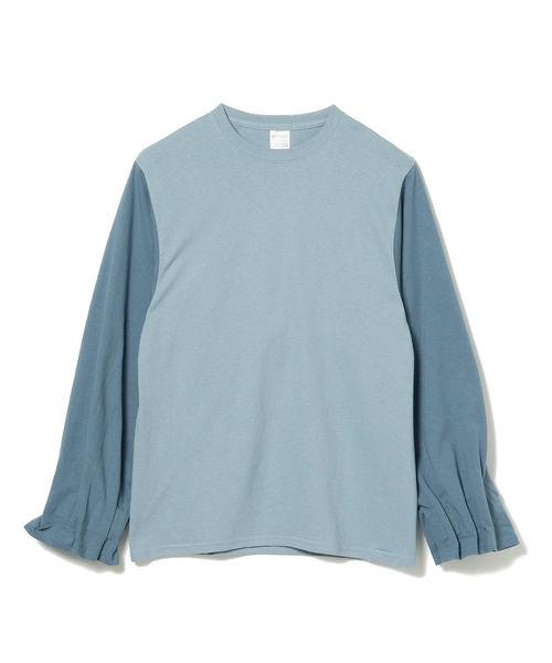 International Gallery BEAMS(インターナショナルギャラリービームス)の「PRE_ / MKS ロングスリーブTシャツ(Tシャツ/カットソー)」|インディゴブルー