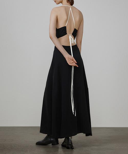【UNSPOKEN】Cut off back strappy dress UQ21L012