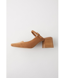 MOUSSY(マウジー)のF/SUEDE SQUARE HEEL SANDALS(サンダル)