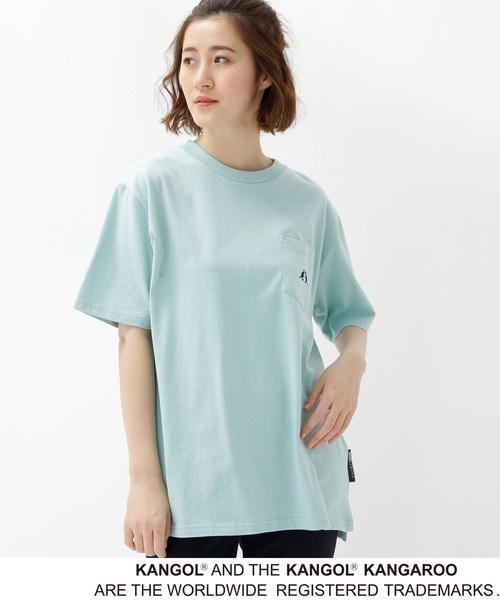 【WEB限定】  コラボ 別注  KANGOL ポケット Tシャツ