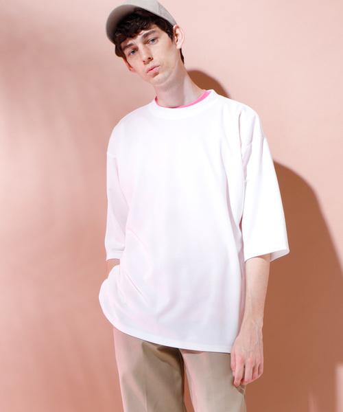 スーパービッグシルエットポンチローマカットソー 1/2 sleeve (EMMA CLOTHES)