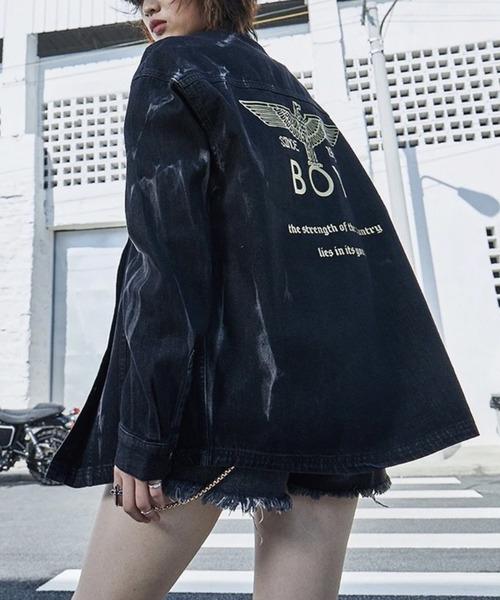 【BOY LONDON】ブリーチブラックデニムジャケット