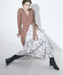 花柄プリントスカートアイボリー