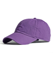【newhattan】 ニューハッタン キャップ STONE WASHED CAPパープル