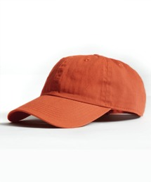 【newhattan】 ニューハッタン キャップ STONE WASHED CAPオレンジ系その他