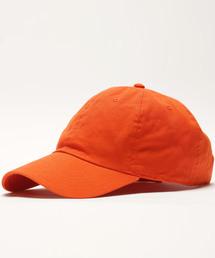 【newhattan】 ニューハッタン キャップ STONE WASHED CAPオレンジ