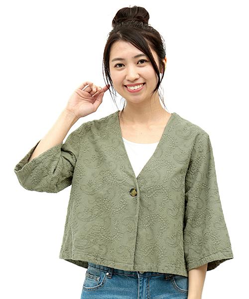 ペイズリー刺繍 ジャケット