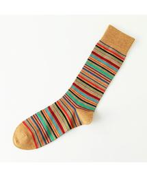 Tabio(タビオ)のTabio MEN/ メンズ マルチボーダーレギュラーソックス(ソックス/靴下)